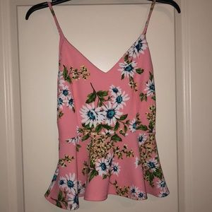 Tops - Floral peplum top